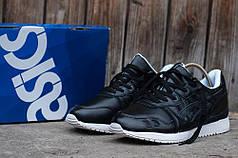 Мужские кожаные кроссовки Asics Gel V черные топ реплика