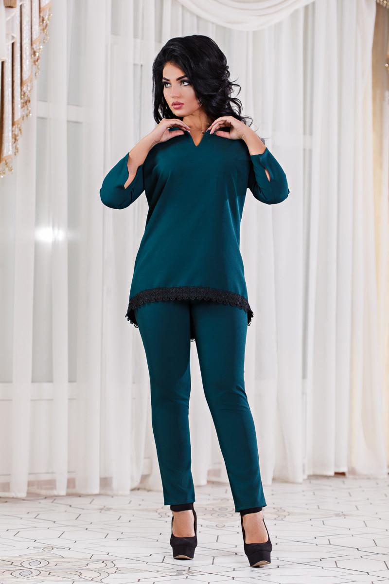 ДТ1121 Брючный костюм с туникой размеры 50-56