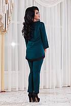 ДТ1121 Брючный костюм с туникой размеры 50-56 , фото 2