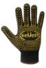 Перчатки трикотажные черные с ПВХ точкой