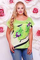 Летняя блузка женская, батал с 50- 56 размер, фото 1