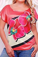 Блузка летняя женская, батал с 50- 56 размер, фото 1