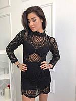 Платье женское  SHEINSIDE из хлопкового кружева ,магазин стильной одежды