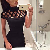 Платье женское из плотного дайвинга с перфорацией ,магазин стильной одежды