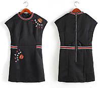Платье женское трапеция с вышивкой PRADA,магазин стильной одежды