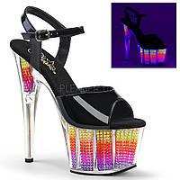 Практичные босоножки Disco dance c разноцветным наполнением,верх лаковый