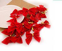 Бантики красные комплект 12 шт