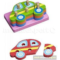 Конструктор деревянные детские&more makd-93071 пазлы автомобили