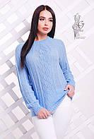 Вязаные женские весенние свитера Мрия из шерсти с акрилом