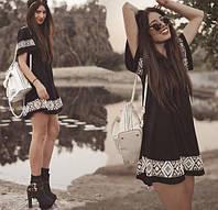 Сарафан женский летний черный Этно,магазин стильной одежды