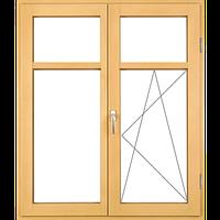 Прямоугольные деревянные окна (распашные с одной стороны)