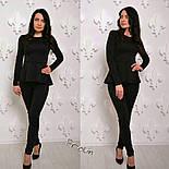 Женский модный костюм: баска и лосины (3 цвета), фото 4
