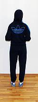 Подростковый спортивный костюм Adidas синий Турция реплика, фото 3