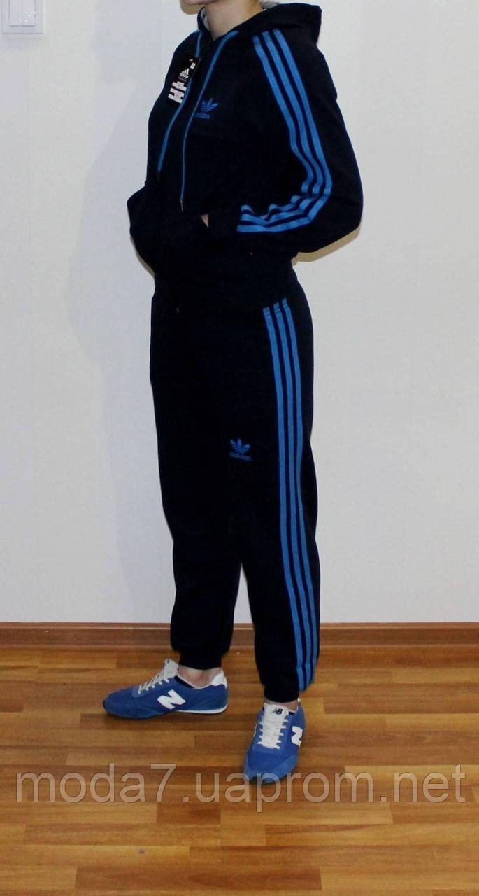 Подростковый спортивный костюм Adidas синий Турция реплика