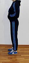 Подростковый спортивный костюм Adidas синий Турция реплика, фото 2