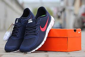 Кроссовки летние Nike Free Run 5.0 темно синие , фото 3