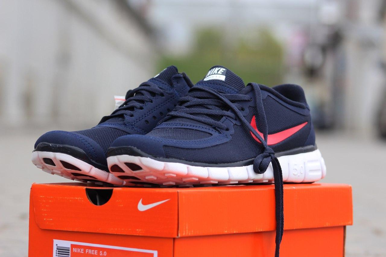 Кроссовки летние Nike Free Run 5.0 темно синие