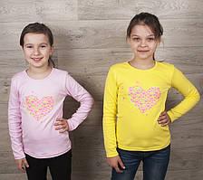 """Водолазка """"Сердечки""""  для девочек( от 2 до 9 лет)"""