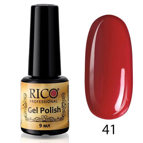 Гель-лак Rico Professional № 41, Вишневый, эмаль, 9 мл