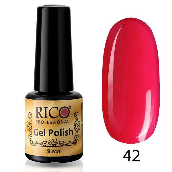 Гель-лак Rico Professional № 42, Приглушенный малиновый, эмаль, 9 мл