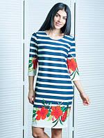 Платье Мальвы исполнено из французского трикотажа