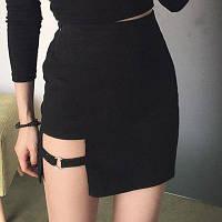 Юбка женская стрейч-джинс стильная с молнией сбоку,магазин женской одежды