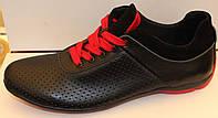 Кроссовки мужские кожаные перфорация, мужские кроссовки кожаные от производителя модель ВИ1П