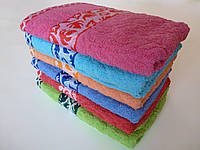 Махровое лицевое полотенце 100х50см (листопад)