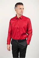 Красная атласная рубашка