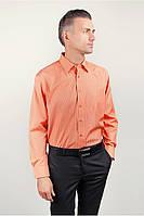 Яркая атласная рубашка в полоску