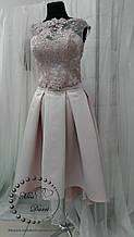 Вечернее платье (кроп топ+юбка миди)