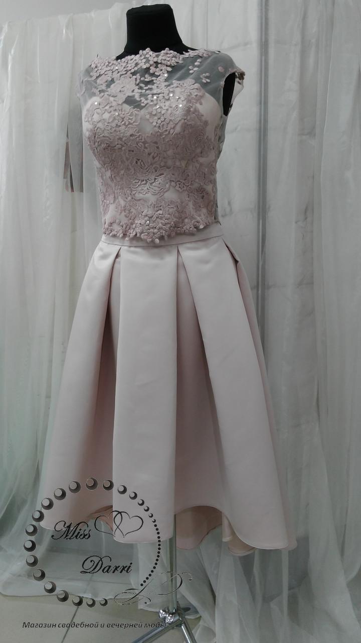 f7bd2086ebe Вечернее платье (кроп топ+юбка миди) - Магазин свадебной и вечерней моды  Miss