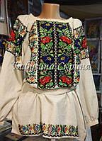 Заготовка Борщівської жіночої сорочки для вишивки нитками/бісером БС-54