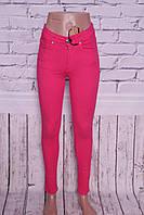 Жіночі джинси з високою талією ITS цвета фуксия.Турция 26-30 размеры
