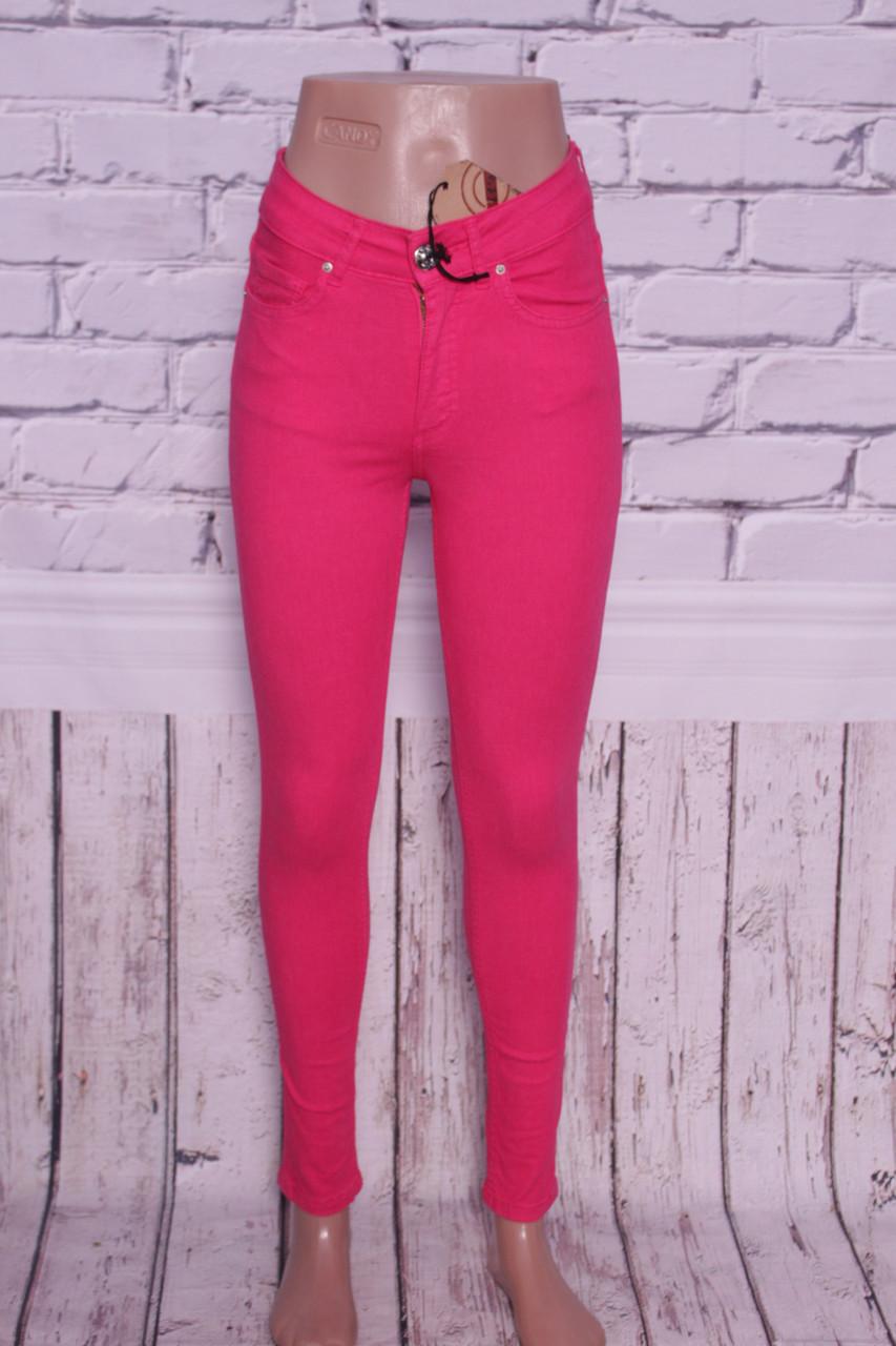 Жіночі джинси з високою талією ITS кольору фуксія.Туреччина 26-30 розміри