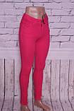 Жіночі джинси з високою талією ITS кольору фуксія.Туреччина 26-30 розміри, фото 2