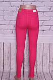 Жіночі джинси з високою талією ITS кольору фуксія.Туреччина 26-30 розміри, фото 3