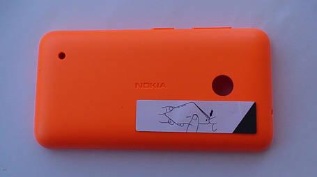 Задняя крышка Nokia Lumia 530 оранжевая, оригинал, 02507L1, фото 2