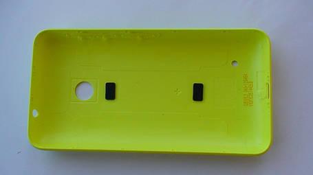Задняя крышка Nokia Lumia 530 жёлтая, оригинал, 02507L3, фото 2