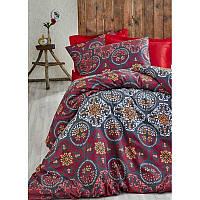 Евро комплект постельного белья Eponj Home - NewAdonis Kirmizi,  ранфорс, Турция