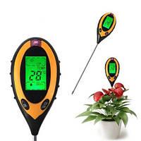 PH-метр/влагомер/термометр/люксметр для почвы, фото 1