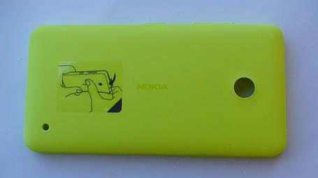 Задняя крышка Nokia Lumia 630 жёлтая, оригинал, 02506C3, фото 2