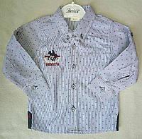 Детская рубашка с длинным рукавом для мальчиков 1-4 года Турция