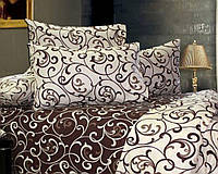 Спальное Постельное белье Евро-стандарт из хлопка Бязь Вензеля комбинированые