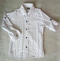 Детская рубашка с длинным рукавом для мальчиков 5-8 лет Турция