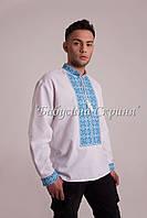 Заготовка чоловічої сорочки для вишивки нитками бісером БС-115ч білий 89772f74cc625