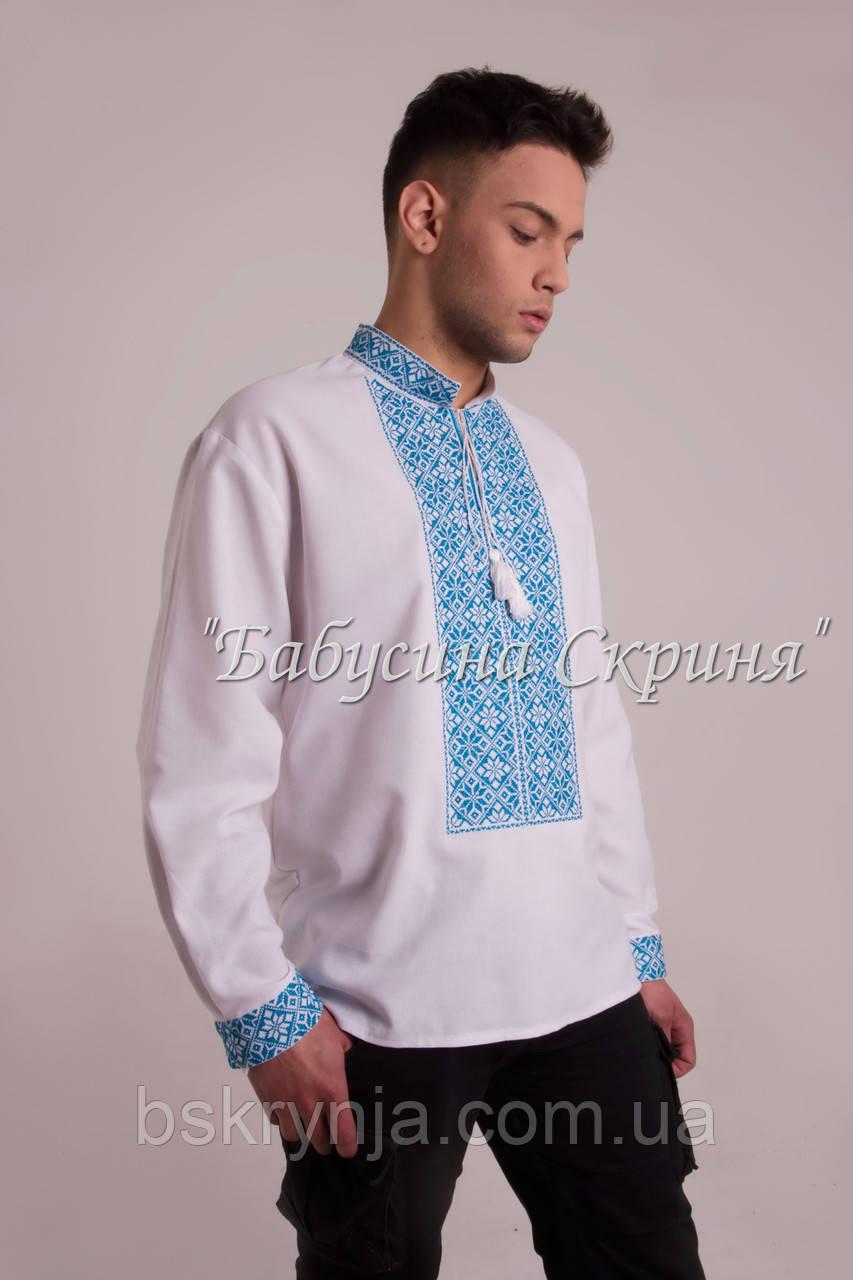 Заготовка чоловічої сорочки для вишивки нитками бісером БС-115ч ... bea3f664d1b45