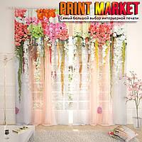 Фототюль 3д арка из цветов