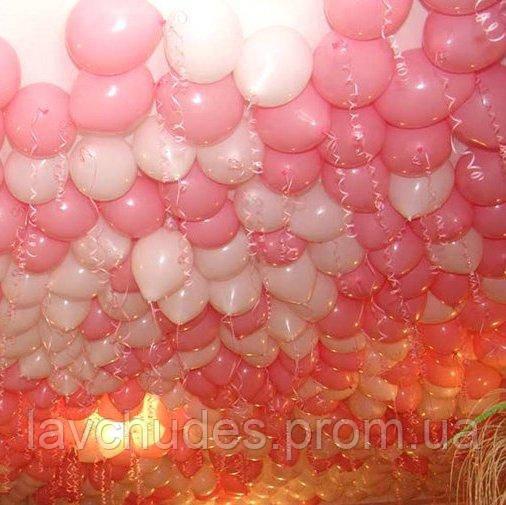 Розовые гелиевые шары на выпускной. Гелиевые шары Киев. Гелиевые шары  Троещина.