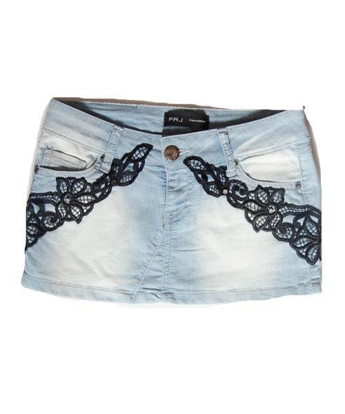 Юбка женская джинсовая летняя Free Joy голубая